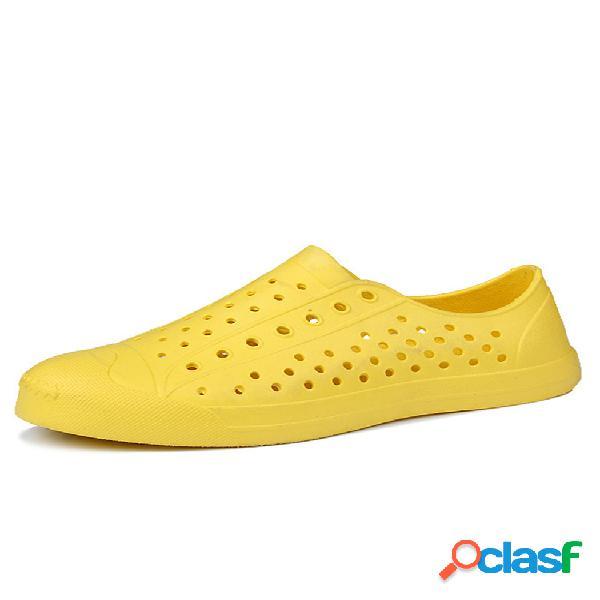 Zapatos planos para vestir casuales, sin cordones, huecos, transpirables, para mujer