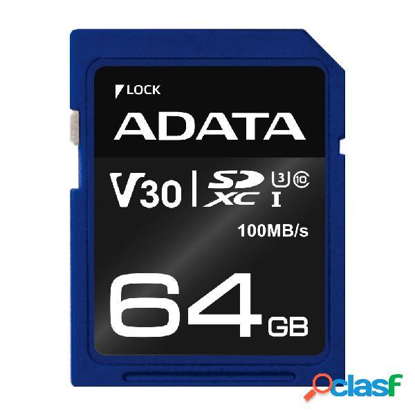 Memoria flash adata premier pro, 64gb sdxc uhs-i clase 10