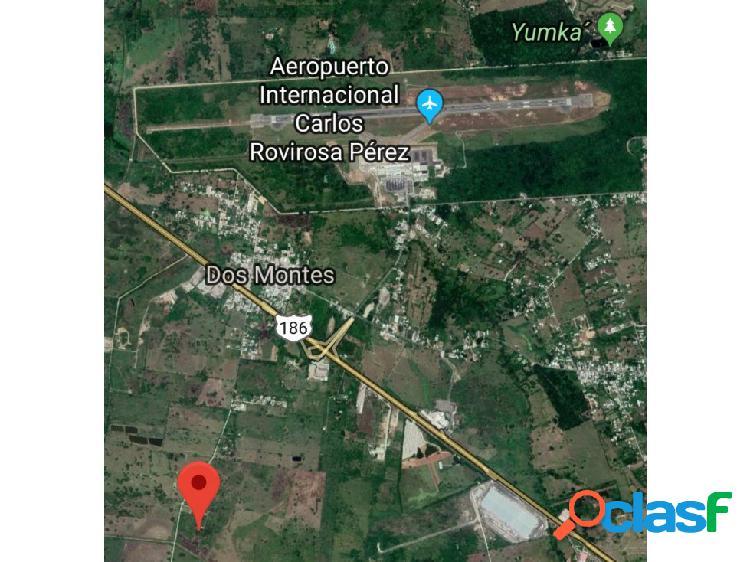 Terreno oportunidad cerca aeropuerto villahermosa