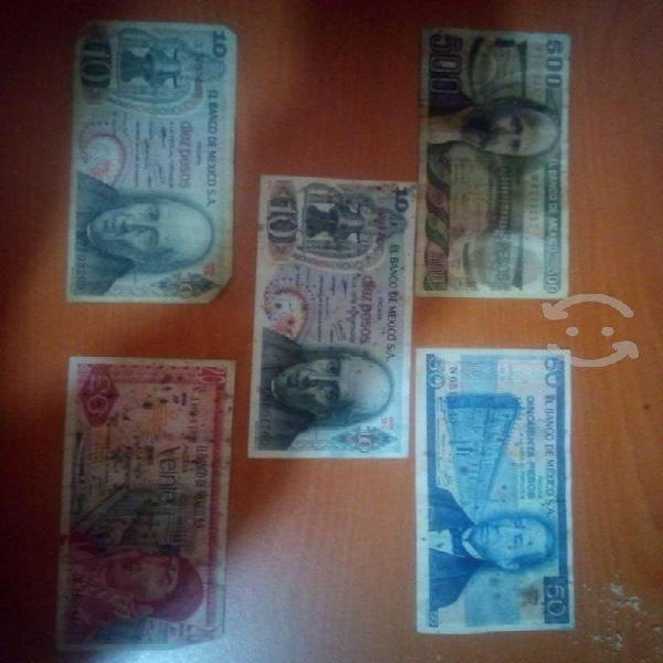 Billetes antiguos en buen estado para coleccionist
