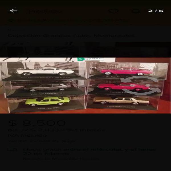 """Colección completa.!!!"""" grandes autos memorables"""