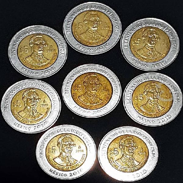 Lote de 8 monedas primo de verdad sin puntos