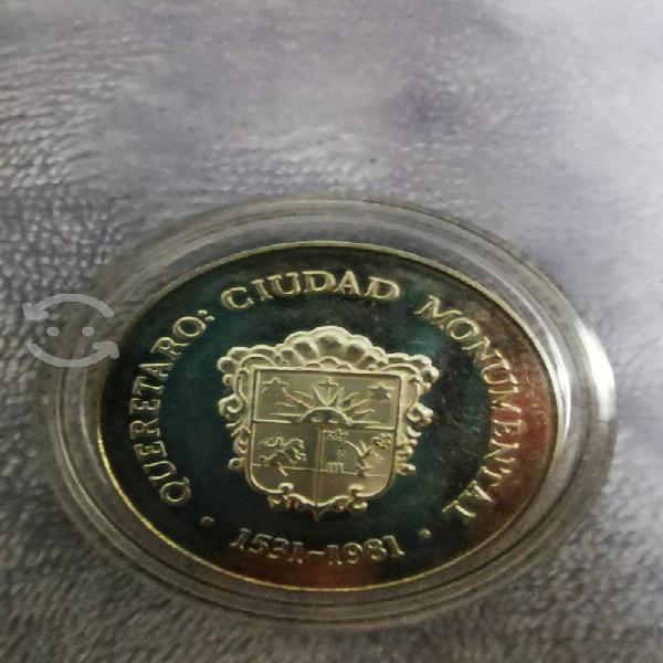 Moneda plata querétaro