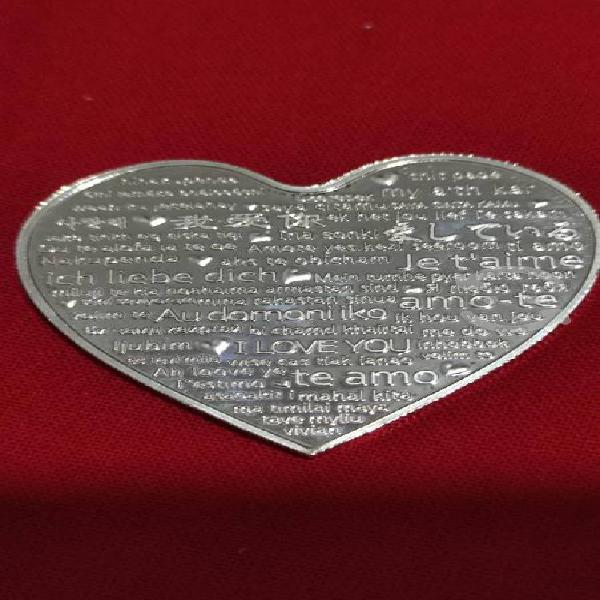 Moneda amor amistad san valentín corazón oro/plata