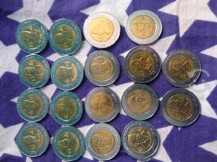 Monedas coleccionables 5 y 20 pesos