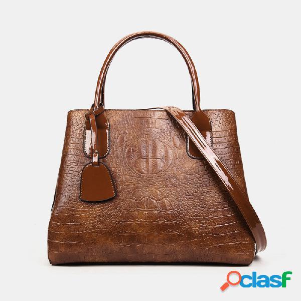 Mujer vendimia bolso de hombro sólido bolsa