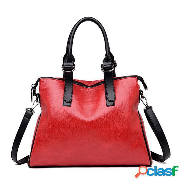 Mujer vendimia tote bolsa bolso de diseño hombro bolsa