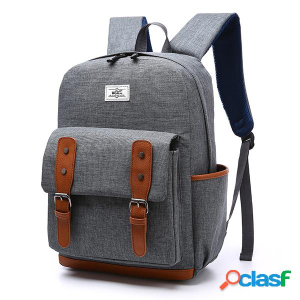 Vendimia casual al aire libre travel 16 inch laptop bolsa mochila para hombres mujer