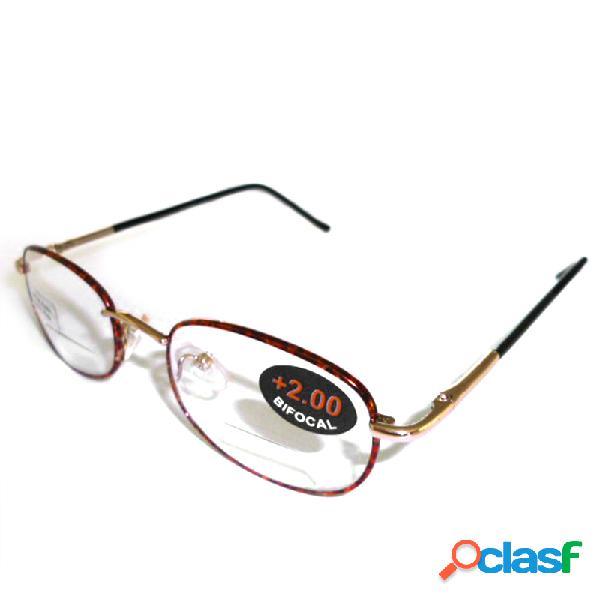 Mujer vendimia resistencia al desgaste del marco de metal exquisito lectura de varios grados gafas