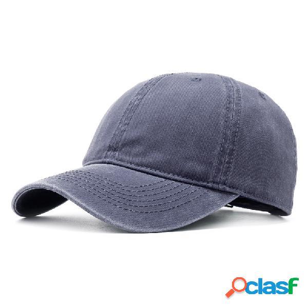 Gorra de béisbol de algodón de sarga lavada para hombre y mujer vendimia ajustable sombrero