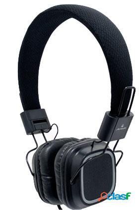 Acteck as-450 audífonos con micrófono, alámbrico, 2 metros, negro