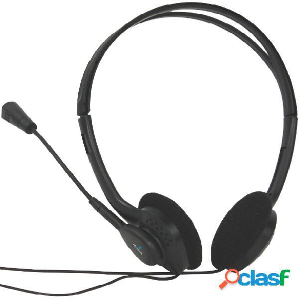 Acteck audífonos con micrófono am-370, alámbrico, 1.8 metros, 3.5mm, negro