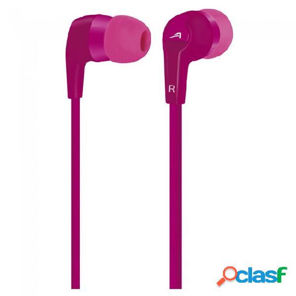 Acteck audífonos in-ear con micrófono ai-001, alámbrico, 3.5mm, 1.2 metros, rosa