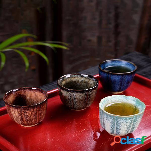 Cerámico taza de té de esmalte hecho a mano taza taza de té gran regalo taza de té de kung fu