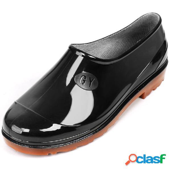 Hombre low top impermeable lluvia de tobillo antideslizante botas