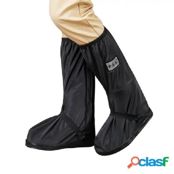 Hombre impermeable fundas antideslizantes con cremallera lateral superior para lluvia botas