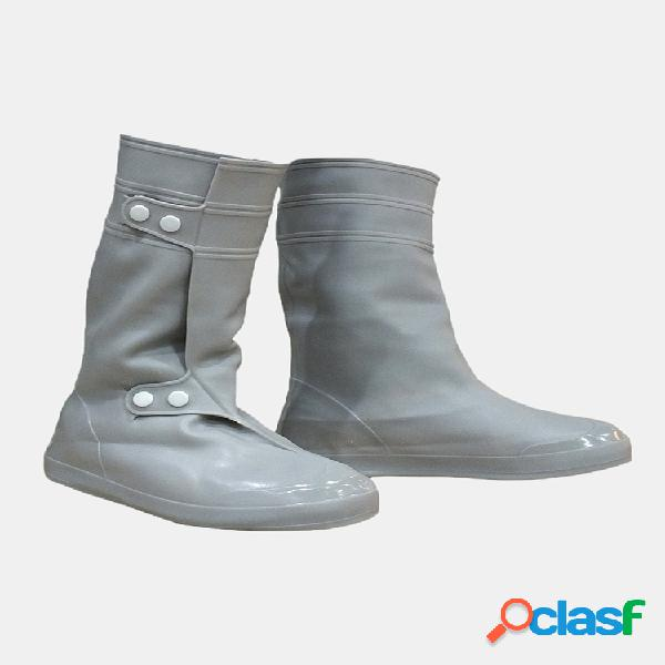 Cloruro de polivinilo mujer funda para zapatos de lluvia para hombre impermeable resbalón antideslizante para lluvia botas pisos