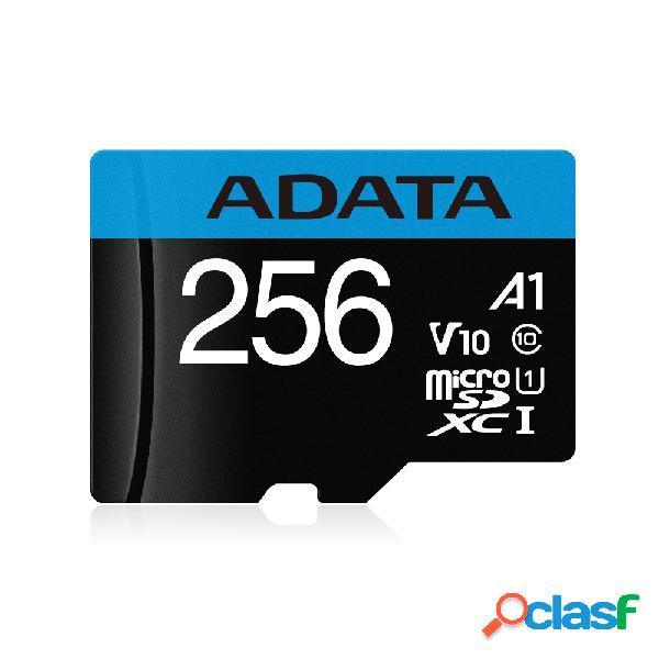 Memoria flash adata premier, 256gb microsdxc uhs-i clase 10, con adaptador