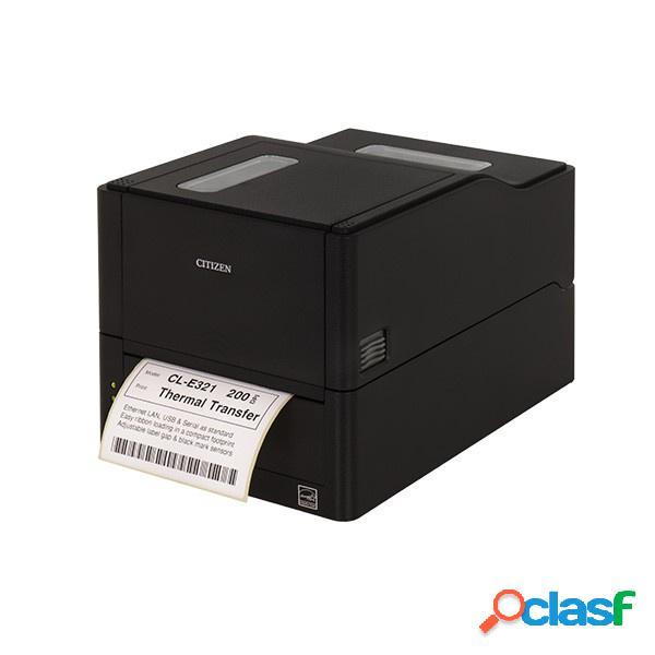 Citizen cl-e321, impresora de etiquetas, térmica directa/transferencia térmica, 203 x 203 dpi, rs-232, negro