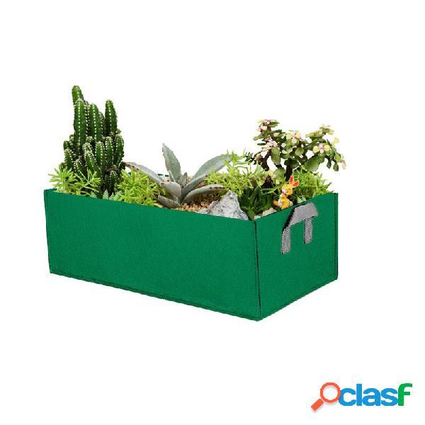 Garden grow bolsa herb flower vegetables planters rectangle non woven coco peat grow bolsa home garden