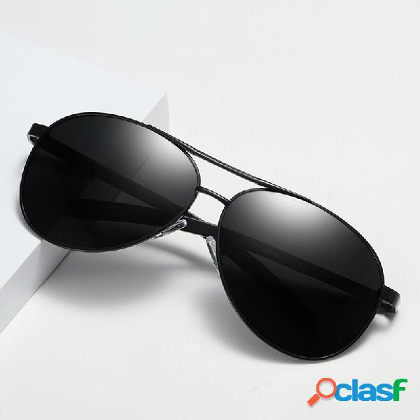 Gafas de sol polarizadas de color marrón anti-ultravioleta para hombre de padre de mediana edad