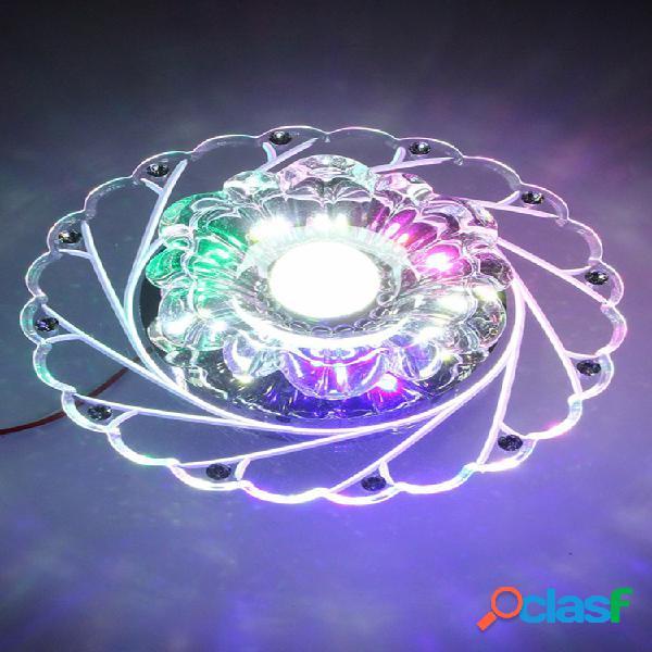 3 w moderno cristal techo azul luz iluminación superior iluminación moda lámpara sala home dec