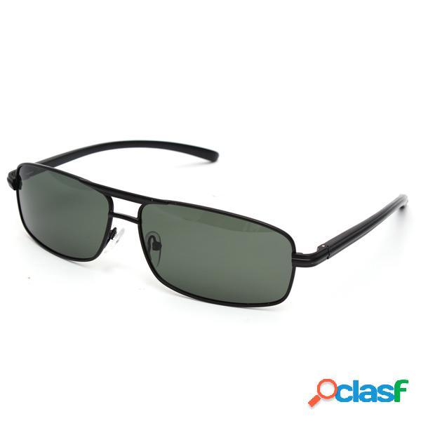 Gafas de sol polarizadas de color verde oscuro para hombres al aire libre conducción deportiva gafas