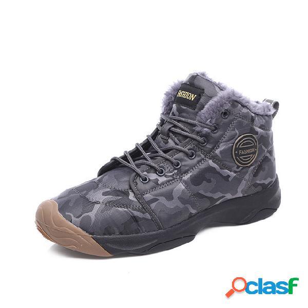 Zapatos de algodón deportivos de gran tamaño para hombres al aire libre