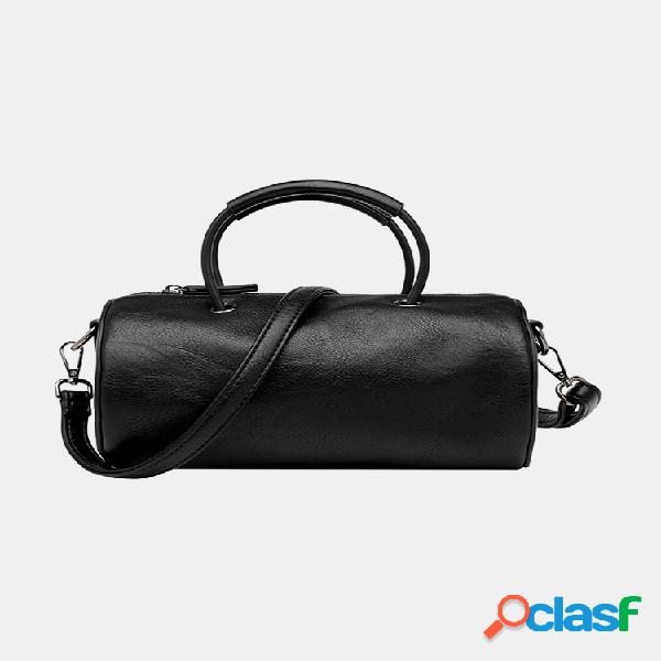 Mujer cilindro sólido informal bolsa bandolera bolsa hombro bolsa cartera bolsa