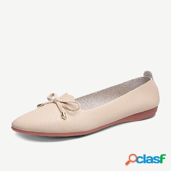 Zapatos planos individuales tendón de lazo femenino soft zapatos de punta inferior moda informal bean mother zapatos de trabajo social antideslizantes