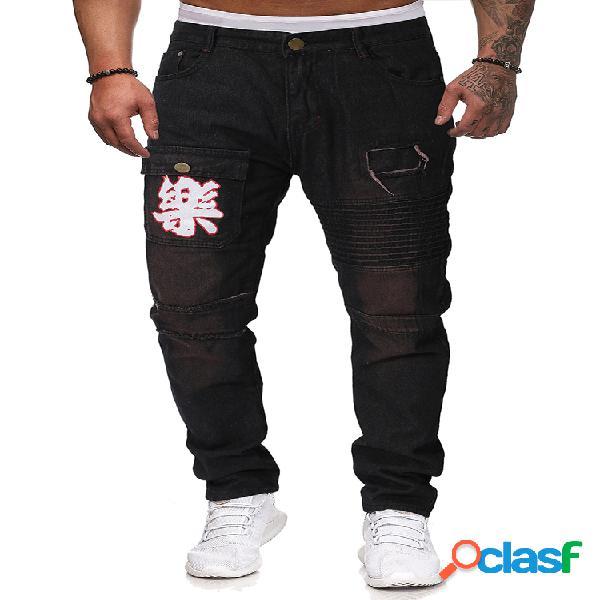 Pantalones ajustados para hombre de talla grande jeans