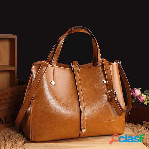 Mujer bolso sólido de piel sintética vendimia crossbody bolsa