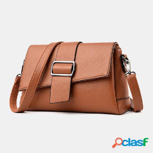 Mujer bolso bandolera informal sólido antirrobo bolsa