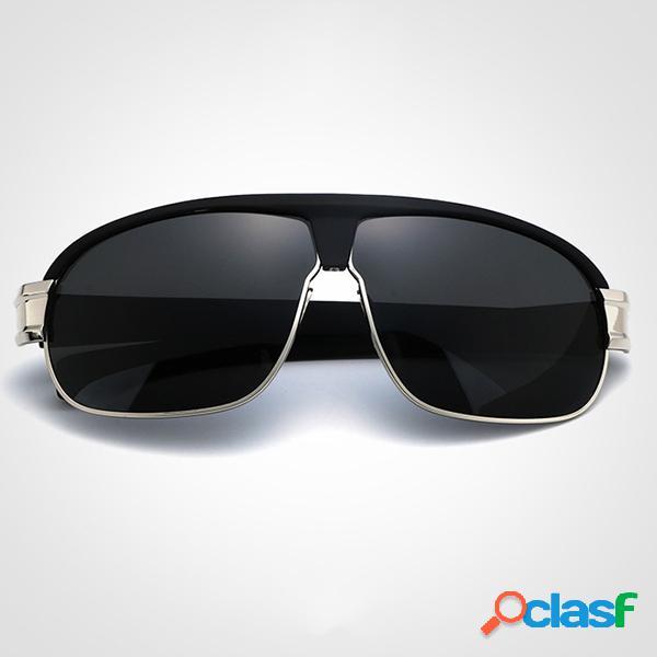 Gafas de sol polarizadas anti-ultravioleta para hombres de la moda al aire libre protector solar de gran tamaño uv400 gafas graduadas
