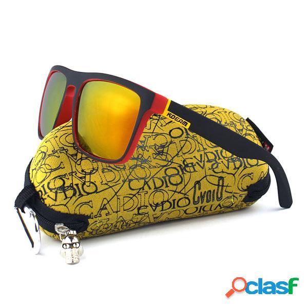Gafas de sol polarizadas del marco cuadrado colorido de los hombres gafas de deportes al aire libre uv400 que conducen