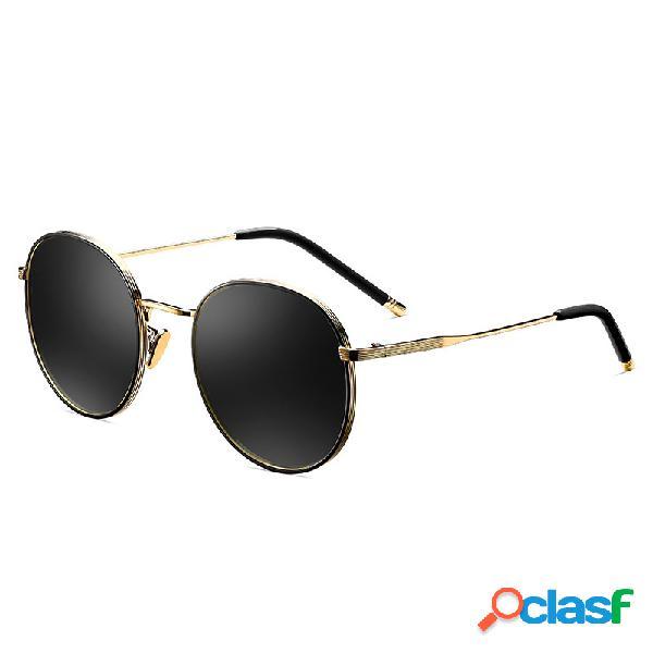 Gafas de sol polarizadas metálicas clásicas de la vendimia del tac de las mujeres gafas de viaje de la moda