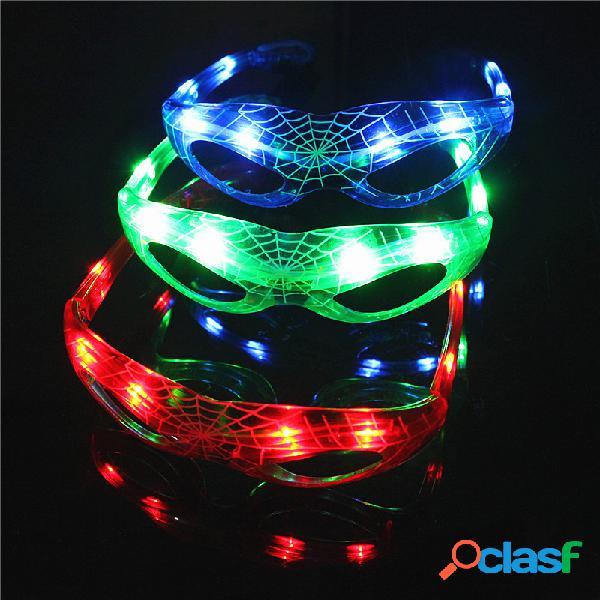 Led estilo araña led intermitente gafas fiesta luminosa colorful brillante classic juguetes