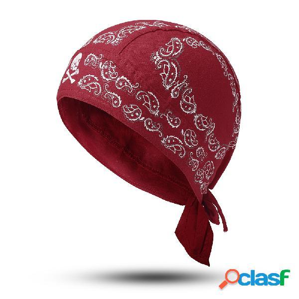 Pirata de algodón para mujer sombrero casquillo de la danza de la calle de la tapa de sun de los deportes plegable respirable