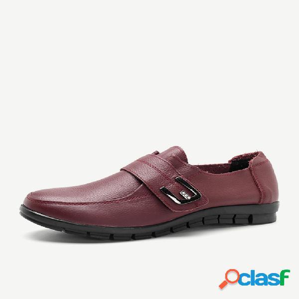 Soft rhinestone gancho zapatos planos look