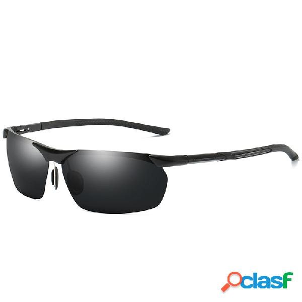 Gafas de sol polarizadas de magnesio de aluminio para hombre gafas de sol de conducción deportiva hd uv400 de caballero
