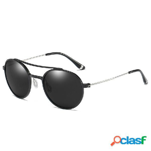 Gafas de sol polarizadas del marco de aluminio del magnesio del metal del tac clásico de los hombres vidrios de conducción de la manera