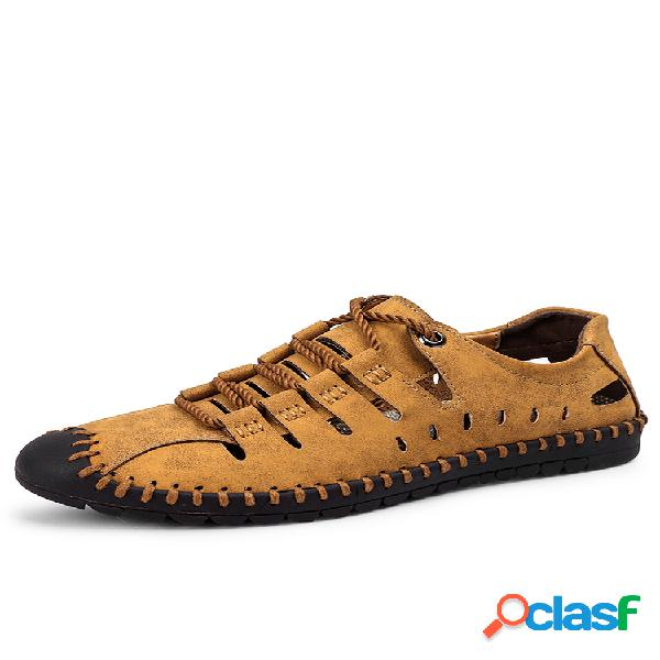 Zapato microfibra con costuras
