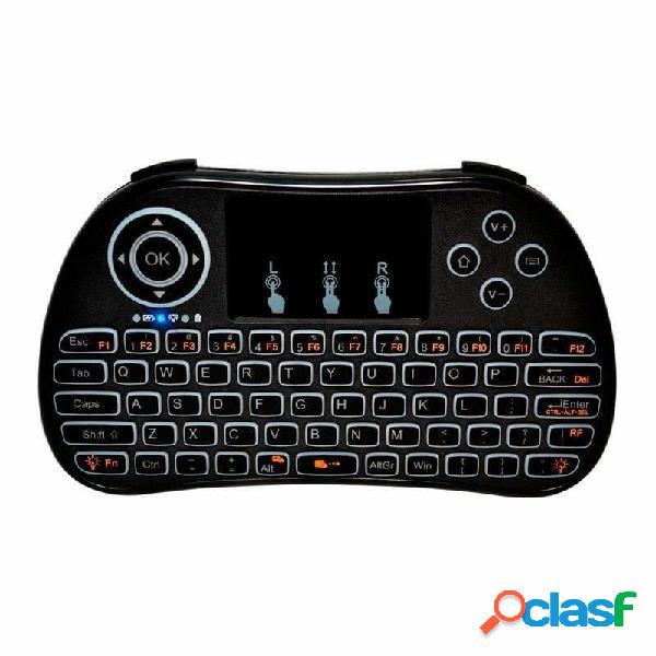 Mini teclado redlemon con touchpad para smart tv, inalámbrico, usb, negro (inglés)