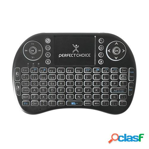 Perfect choice mini teclado de entretenimiento pc-201007, inalámbrico, negro