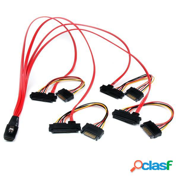 Startech.com cable interno sff-8087 macho - 4 x sata/4 x sff-8482 hembra, 50cm