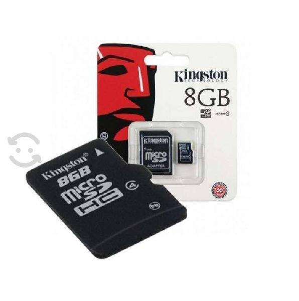 Memoria kingston micro sdhc 8gb clase 4 c/adaptado