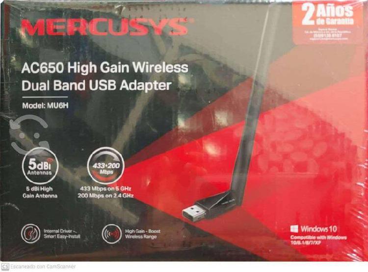 Adaptador red usb wifi dual band con antena 433mb