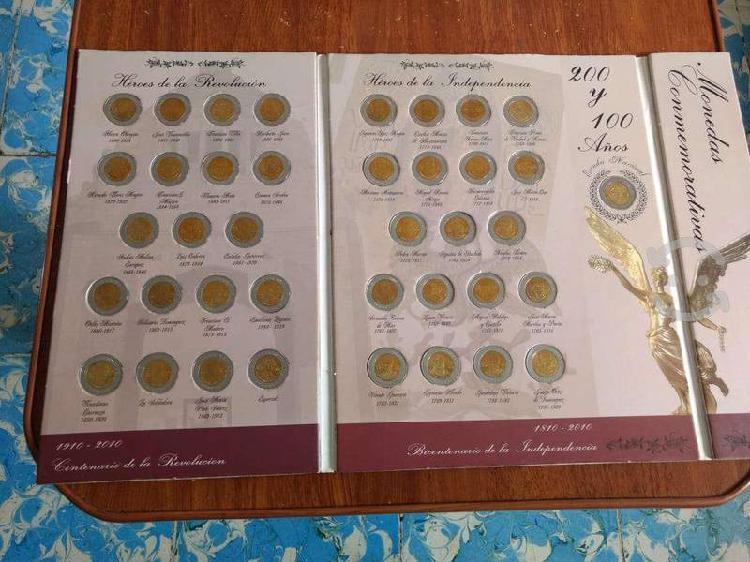 Album de monedas conmemorativas de mexico completo