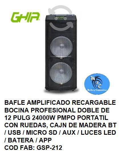 Bafle amplificado recargable bocina profesional