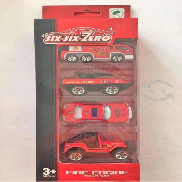 Carros miniatura edición bomberos